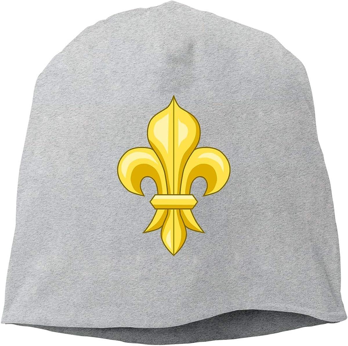 Fleur De LYS Unisex Knitted Hat Beanie Hat Warm Hats Skull Cap