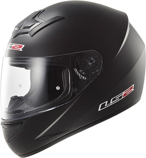 LS2 103521011L FF352 Casco Rookie Solid, Color Negro Mate, Tamaño L