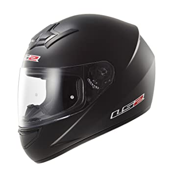 LS2 103521011M FF352 Casco Rookie Solid, Color Negro Mate, Tamaño M