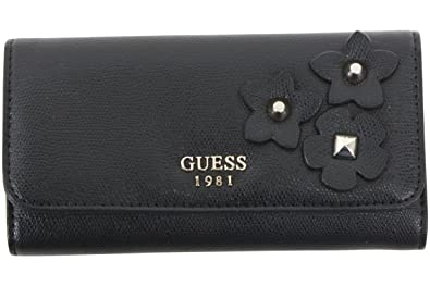Amazon.com: Guess Mujer Liya Slim embrague Tri-Fold Wallet ...