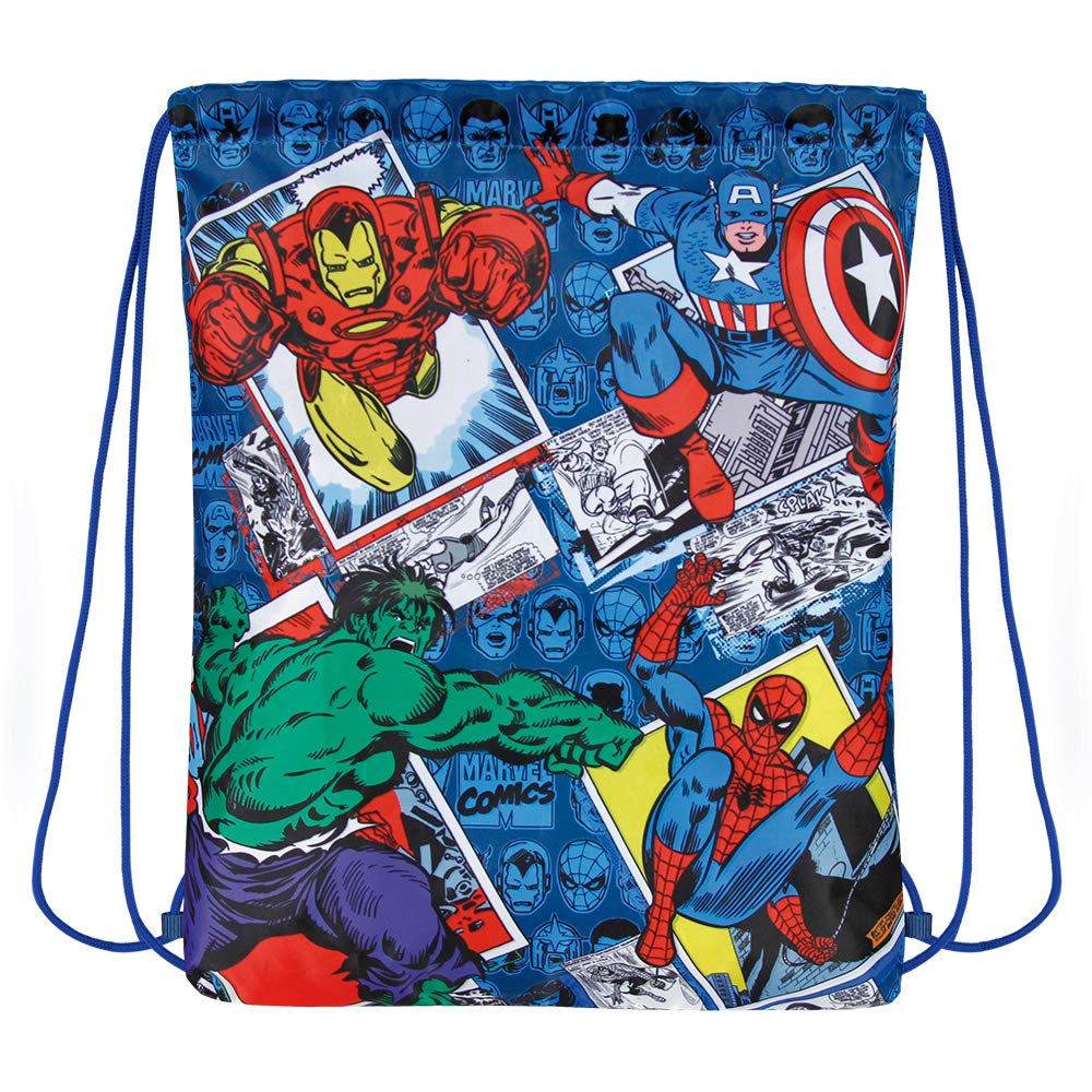 8b3f70b7d3cd The Avengers Drawstring Sack for Little Boys - Swim Gym Bag Waterproof Kids  with Iron Man