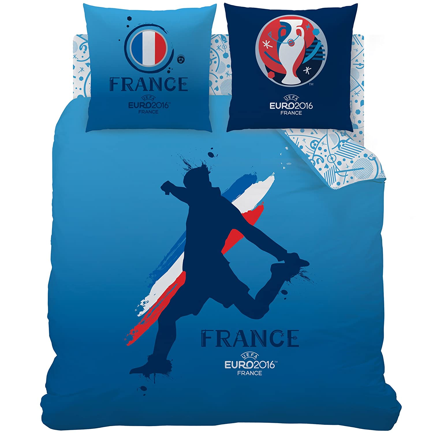 Cti 043325 Uefa Player Housse De Couette 240 X 220 Cm 2 Taies 63 X