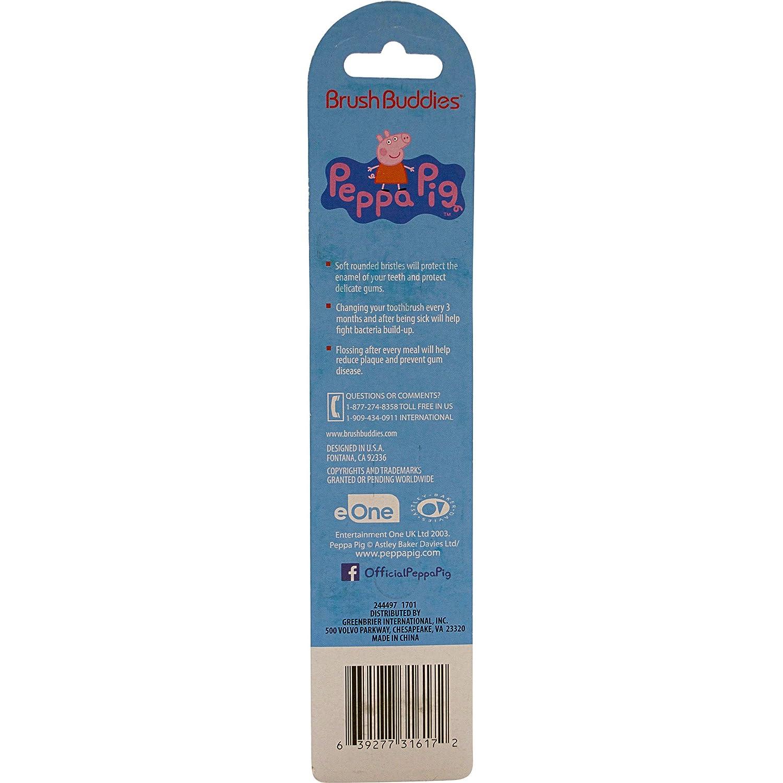 Peppa Pig Cepillo De Dientes Doble 2 Por Paquete: Amazon.es: Salud y cuidado personal