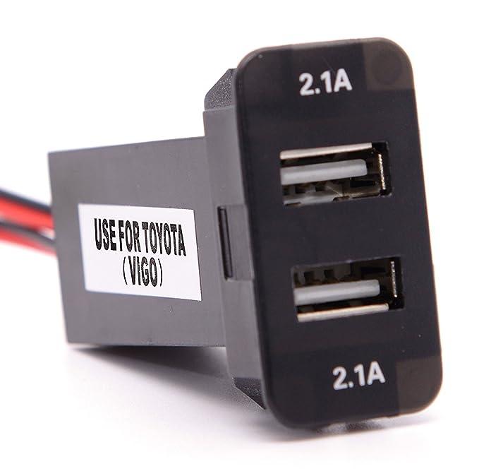 cllena Toyota Cargador USB para Toyota Interruptor planta con 5 V ...