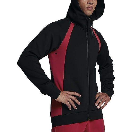 5bfc2827b4c409 Nike Mens Jordan Tech Fleece Flight Full Zip Hoodie BlackGym Red  879497-013  item 2 NIKE JORDAN HYPERPLY DOWN JACKET ...