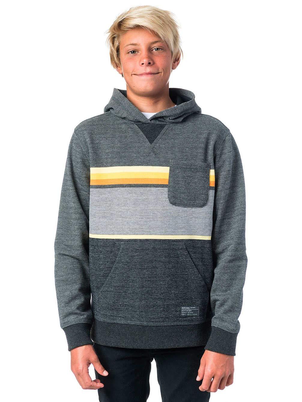 RIP CURL Yarn Dyed Stripe Hooded Fleece Sudadera, Niños: Amazon.es: Deportes y aire libre