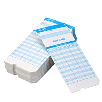 aibecy Time Card Formato Mensual Frente/Retro tamaño 7.4 * 3.3 ...