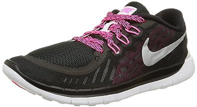 56a3ecf8325e Nike Kids Free 5.0 (GS) Black Mtllc Slvr Vvd Pnk Pnk