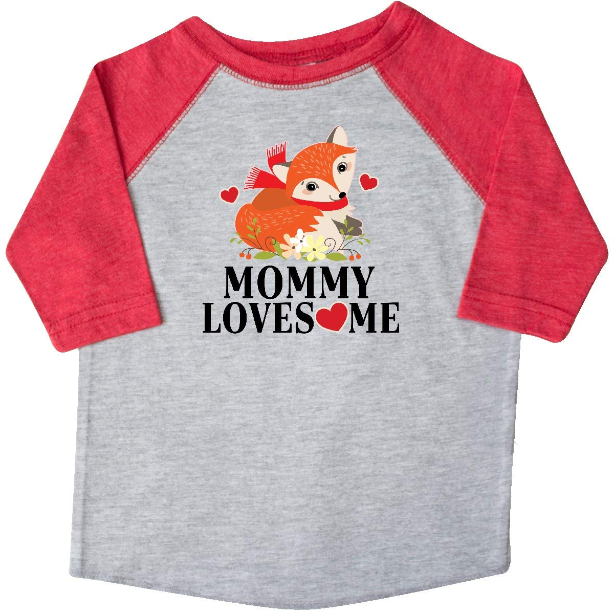 inktastic Mommy Loves Me Woodland Fox Toddler T-Shirt