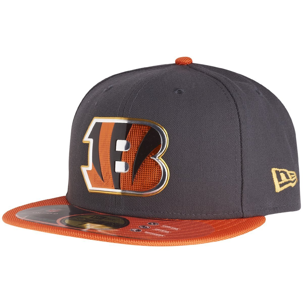 9a98db8883fd93 Amazon.com : New Era NFL Hat Cincinnati Bengals on Field Gold Collection  Football Black with Gold Cap (7 3/4) : Sports & Outdoors