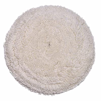 """Gracefur Hook and Loop 100% Wool Polishing Buffing Pad 7\"""" Soft Reusable Single Sided Wool Cutting Pad for Compound Cutting & Polishing Cream: Automotive [5Bkhe0408783]"""