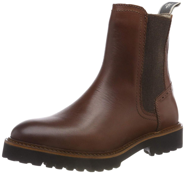 Braun (Brandy 723) Marc O& 039;Polo Damen Flat Heel Chelsea Stiefel