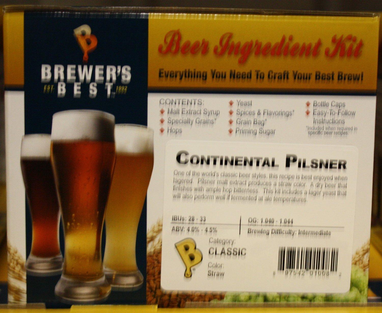 Brewer's Best Continental Pilsner Homebrew Beer Ingredient Kit