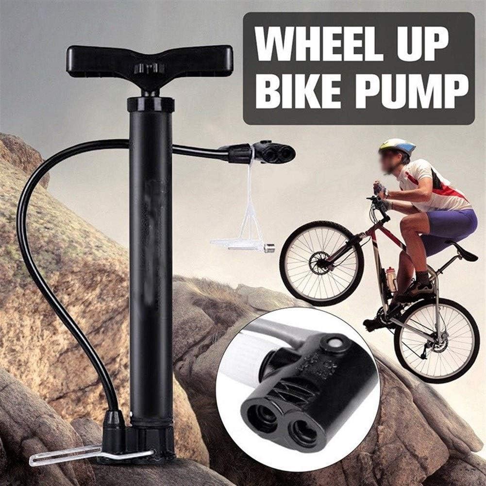 HMYDZ Tragbarer Fahrradpumpe 120 PSI Hochdruck Radfahren Kugel Inflator Stehen Fahrrad-Handpumpe Motorrad-Reifen Hand Inflator