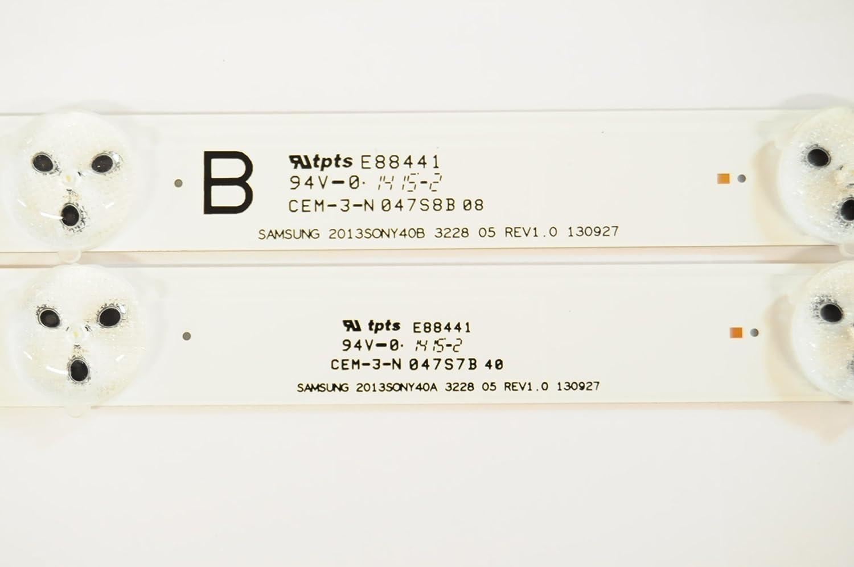 2 STRIP 30175 SONY KDL-40W580B KDL-40W600B 2013SONY40A 2013SONY40B A AND B BACK LED LIGHT