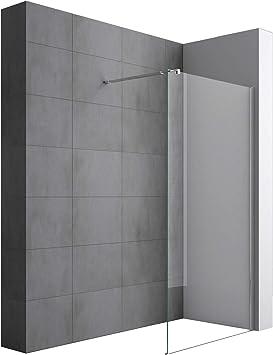 doporro Lujosa Mampara/panel de ducha de vidrio transparente ...