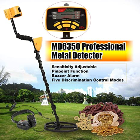 73JohnPol MD6350 Detector de Metales subterráneo Profesional ...