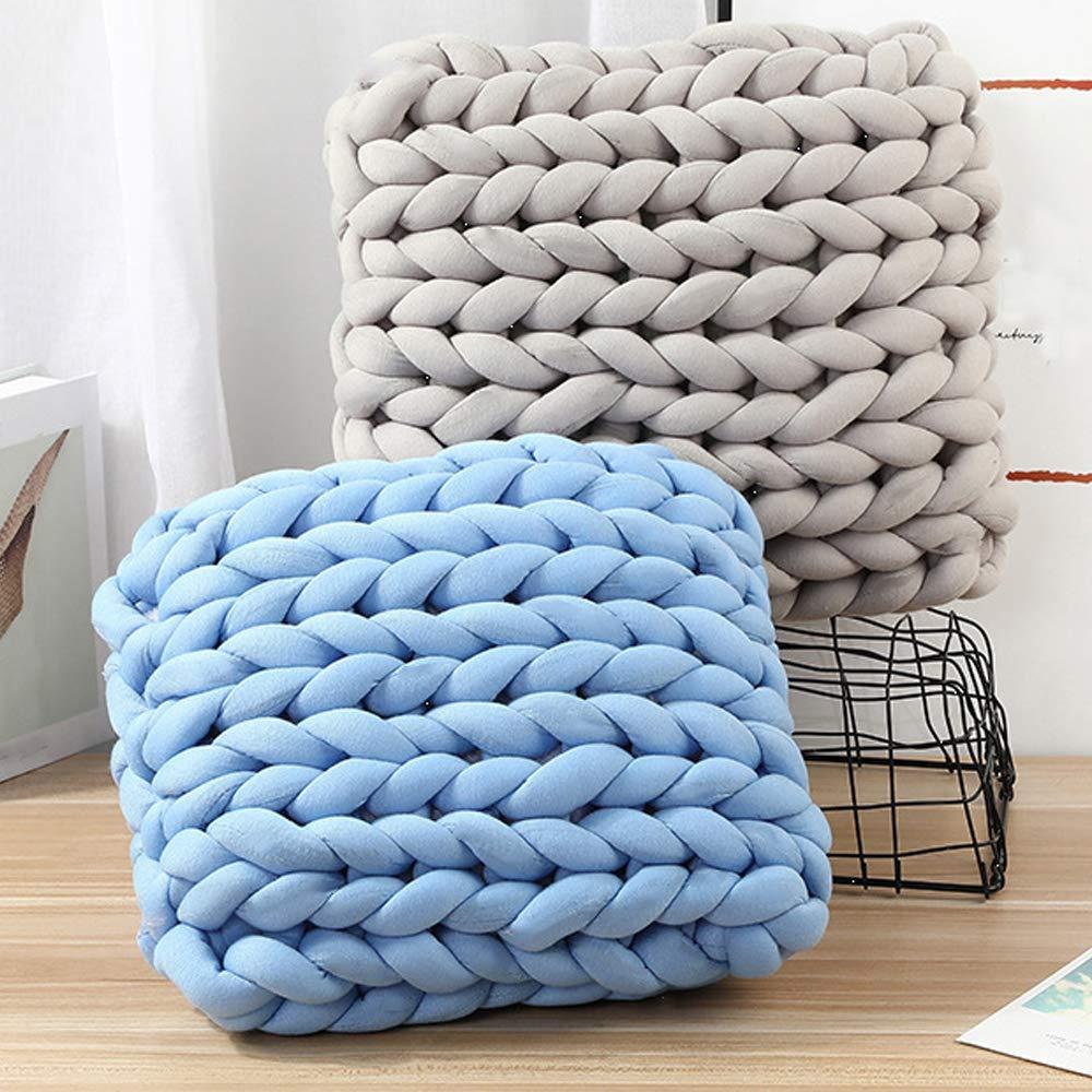 Amazon.com: Hilo de algodón trenzado gigante para tejer a ...