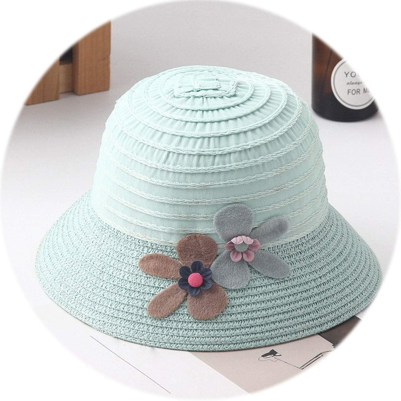 New Summer Kids Floral Straw Hats Fedora Hat Children Visor Beach Sun Baby Girls Sunhat