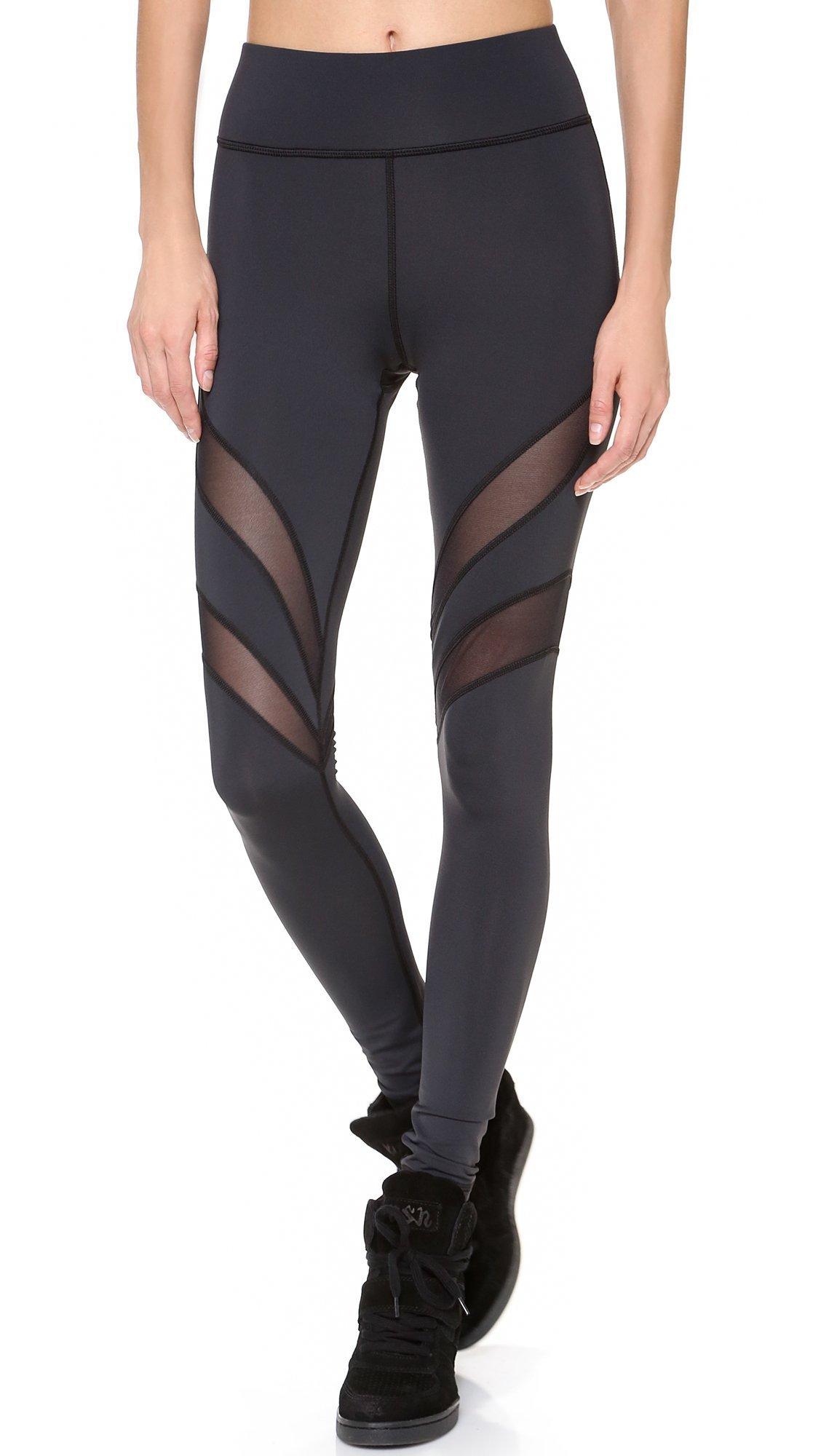 MICHI Women's Psyche Leggings, Black, Large