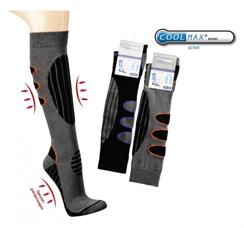 1 Paar COOLMAX® gepolsterte Ski- und Funktionsstrümpfe Spezialversträrkungen und Polster CH-973