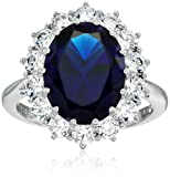 """Amazon Price History for:Platinum-Plated Sterling Silver Celebrity """"Kate"""" Ring made with Swarovski Zirconia Accents"""