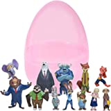 12 Zootopia Figurines In Jumbo Toy Filled Glitter Easter Egg - Featuring Judy Hopps, Nick Wilde, and Other Zootopia Figurines - Easy To Open, Tough To Break - Awesome For Kids Parties And Egg Hunts