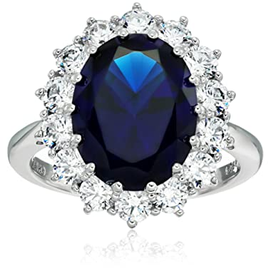 Platinum-Plated Sterling Silver Celebrity  Kate  Ring made with Swarovski Zirconia Accents