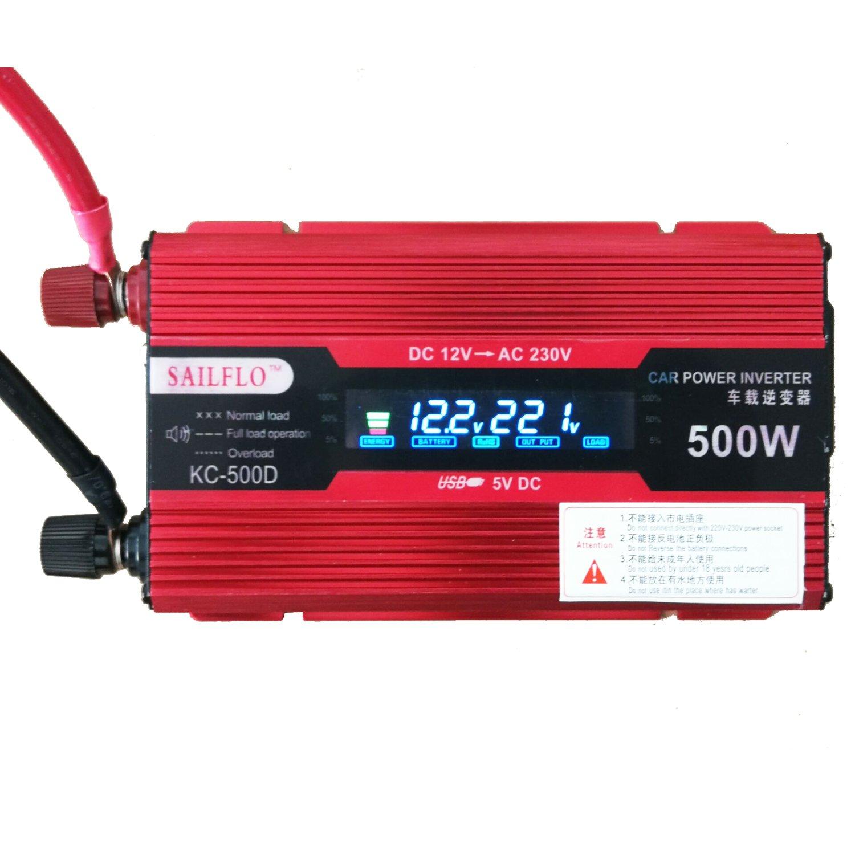 Ukc 500w Usb Car Inverter Dc 12v To Ac 220v Directly Amazonco 240v Electronics