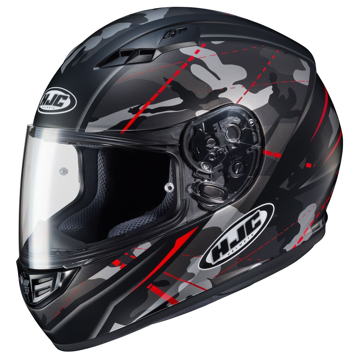 HJC Helmets CS-R3 Helmet - Songtan (MEDIUM) (BLACK/RED) by HJC Helmets