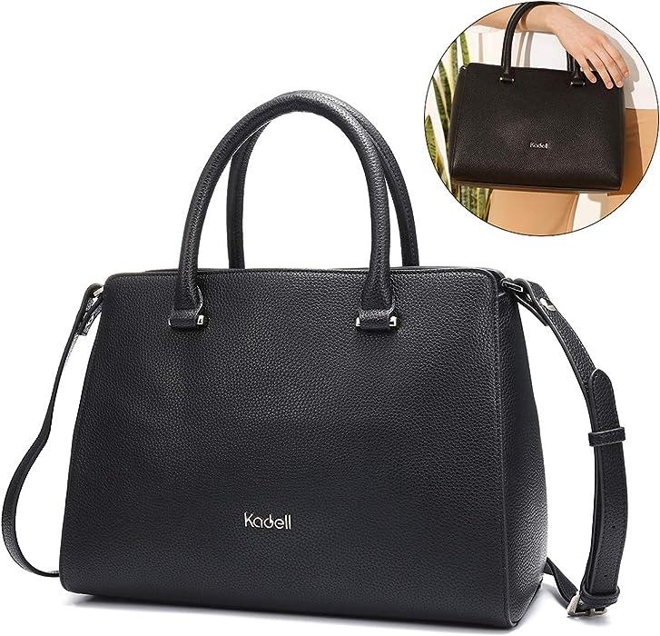 Kadell Women Soft Top Handle Satchel Handbags Shoulder Bag Tote Purse Messenger  Bags Black 819a3860e7161