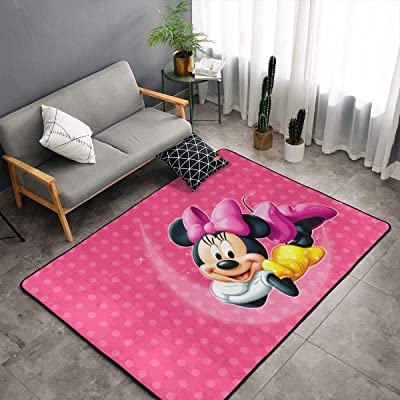 Beautiful Minnie Mickey Mouse Carpet Area Mat Bedroom Camping Soft Mat Kids Boys Girl Blankets Kindergarten Home Room Comfortable and Durable Decor Rug Polyester 60 X 39 Inch: Kitchen & Dining
