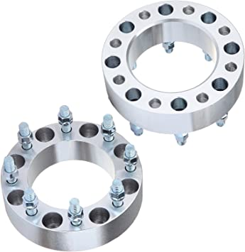 ECCPP Wheel Spacers 8 Lug 2 inch 50mm 8x170 Lug Pattern 14x2 Studs Compatible with 1999-2004 Ford F-250//Ford F-350 Super Duty 2000-2002 Ford Excursion