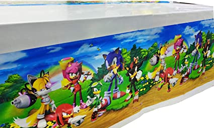Amazon Com Sonic The Hedgehog Party Tablecloth Table Cover Party Supplies Decorations Baby Shower Birthday Party Sonic The Hedgehog Tablecloth 70 X 42 2 Pcs Health Personal Care