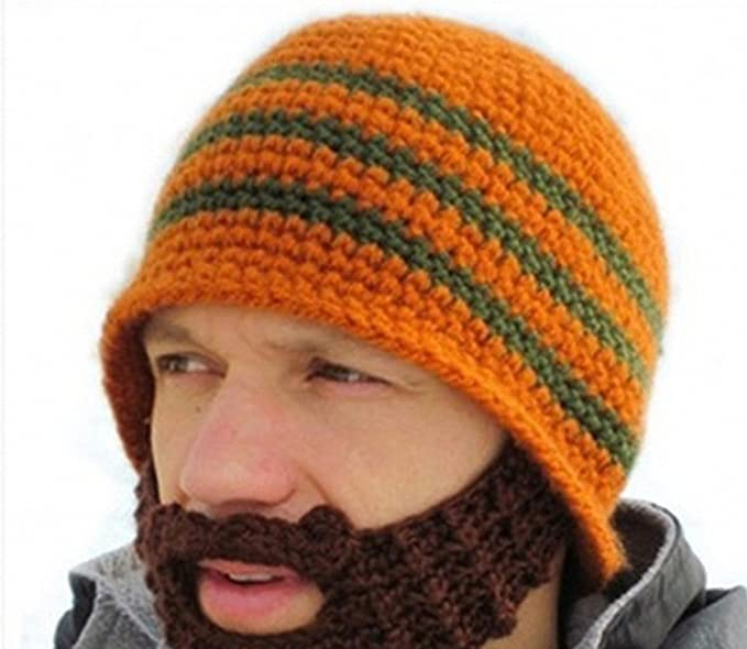 JcxHat Beard Hat Warm Winter Crochet Knit Beanie Unisex Mustache Skully Cap  at Amazon Women s Clothing store  cae94828848