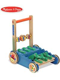 Melissa & Doug Chomp & Clack Alligator Push Toy, Wooden Activity Walker, Sturdy Construction, Makes Sounds When Pushed...