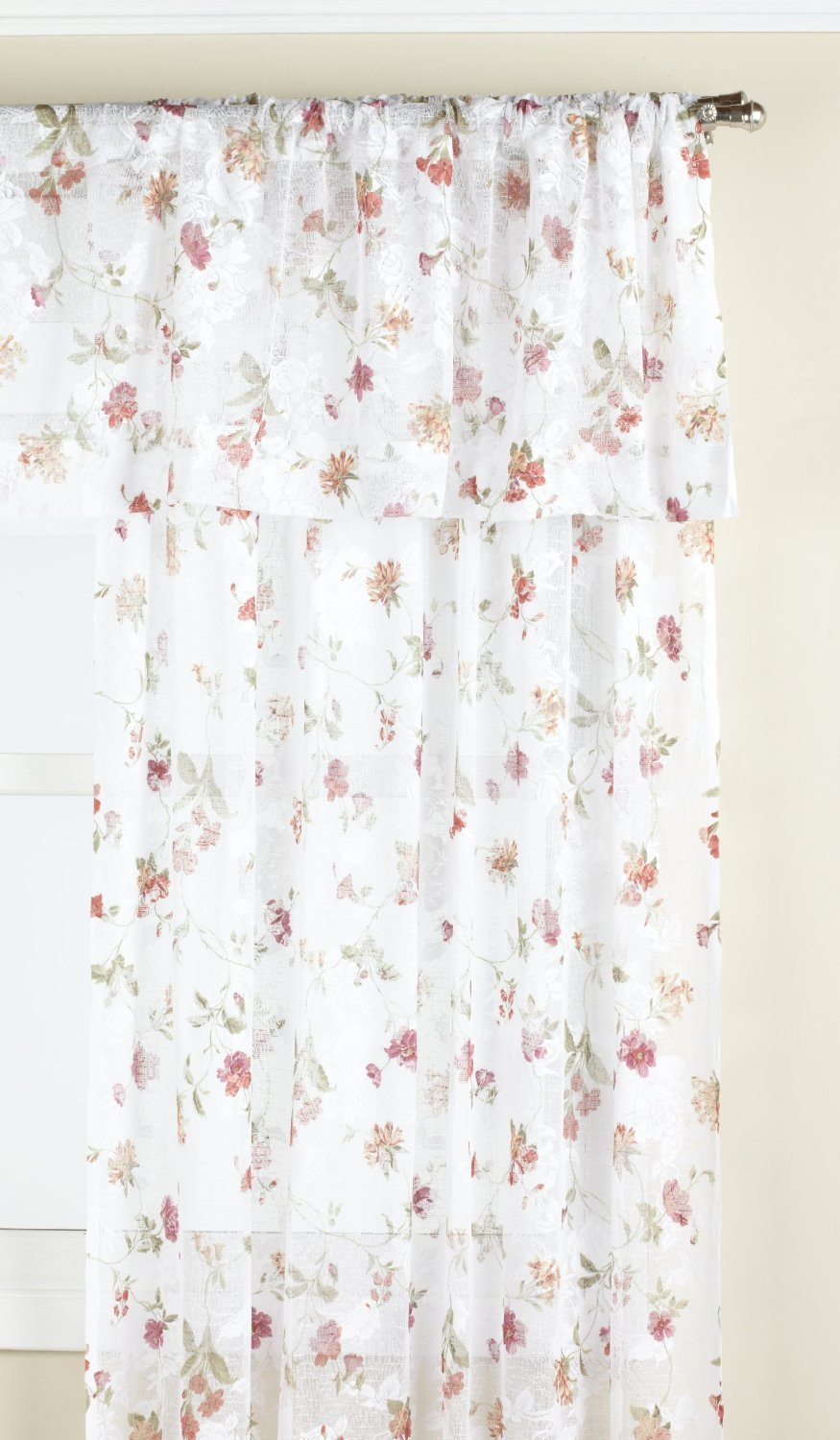 LORRAINE HOME FASHIONS Brewster Tailored Window Curtain Panel Antique 06022-63-00167 51 by 63-Inch