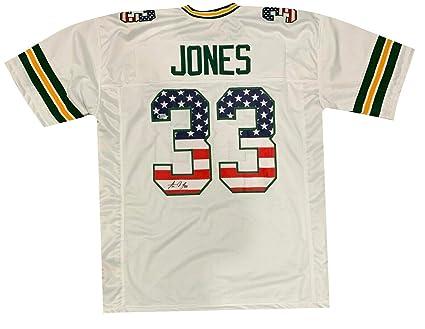 new styles e6721 dc491 Aaron Jones Autographed Jersey - USA - JSA Certified ...