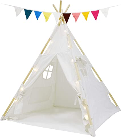 Portable Cotton Children Kids Teepee Play Tent Toy Indoor Outdoor Playhouse