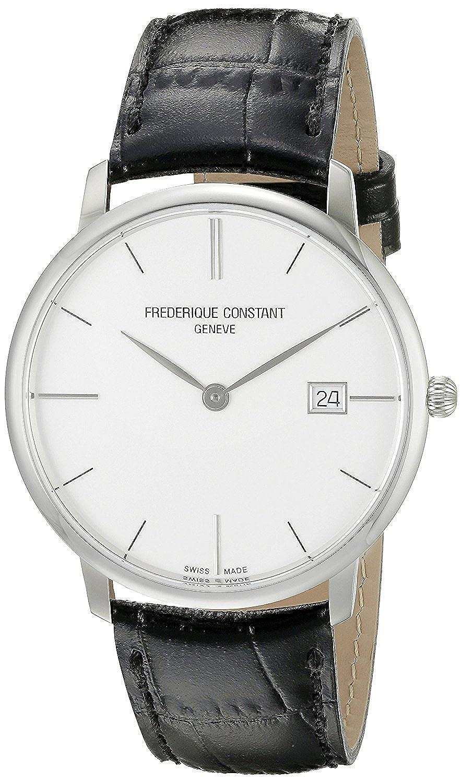 フレデリックコンスタント Frederique Constant Men's FC220S5S6 Slim Line Analog Display Swiss Quartz Black Watch [並行輸入品] B01BASBGXU