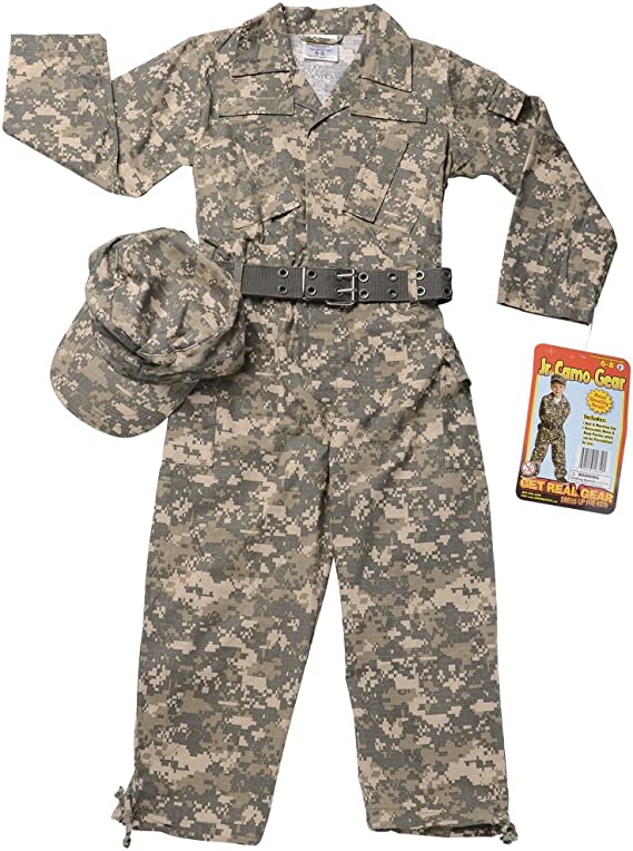 Aeromax Jr. Camouflage Suit with Cap and Belt, Size 2/3