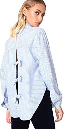 Free People Womens Tie It In A Bow Button Up Shirt
