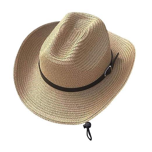 86a4ec644a8ac URIBAKE Floppy Foldable Man Unisex Belt Straw Beach Sun Summer Hat ...