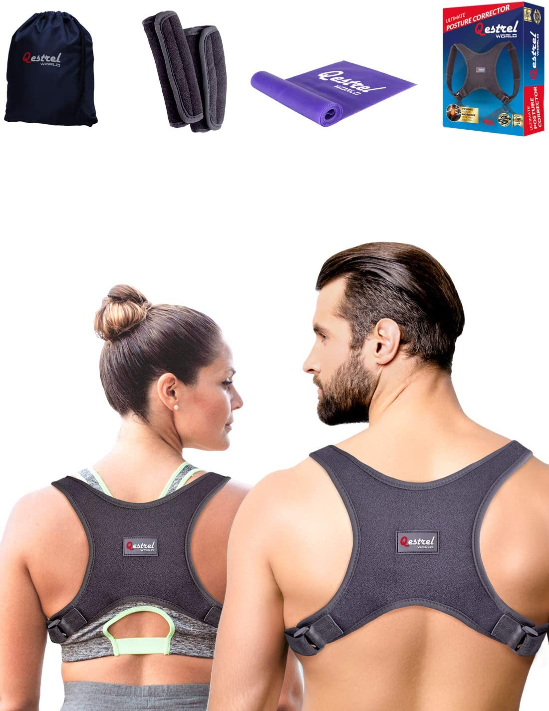 Back Straightener Posture Corrector for Women and Men - Shoulder Brace Back Posture Corrector for Men - Upper Back Support and Neck Pain Relief - Under Clothes Back Brace for Neck & Shoulder