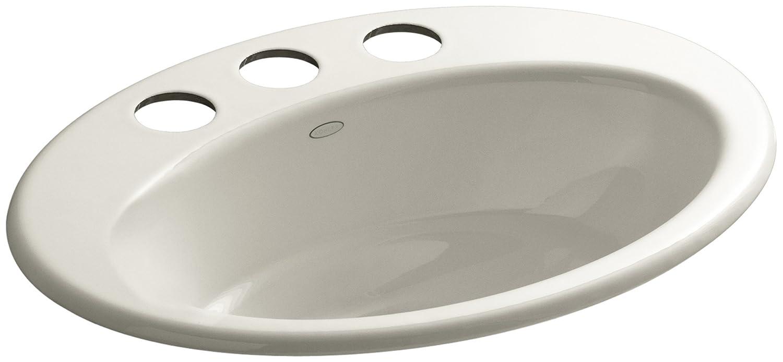 KOHLER K-2907-8U-7 Thoreau Undercounter Bathroom Sink Black Black