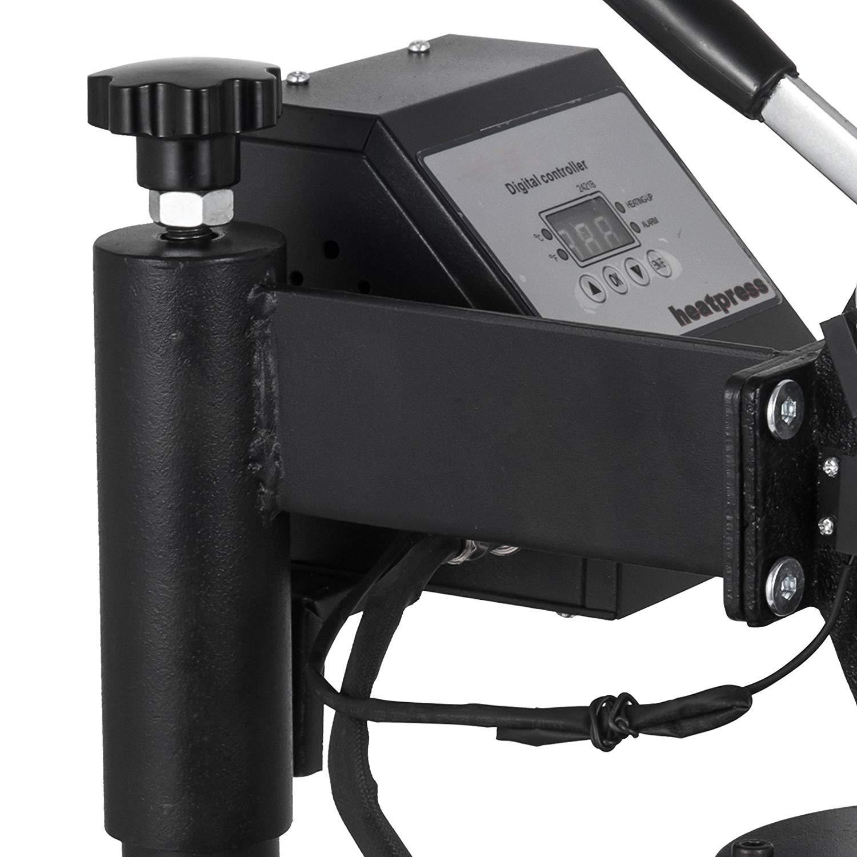 6x3 inch Mophorn Heat Press 6X 3 inch Swing-Away Heat Press Machine Professional Transfer Sublimation Hat Press with Digital LCD Timer