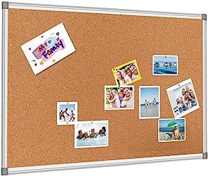 BESTBOARD Cork Bulletin Board, Heavy Duty Corkboard for Homes or Offices, 36 x 48 inch, Silver Aluminum Frame