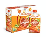 Happy Tot Organic Stage 4 Baby Food Love My Veggies Carrot Banana Mango & Sweet Potato, 4.22 Ounce (Pack of 16) (Packaging May Vary)
