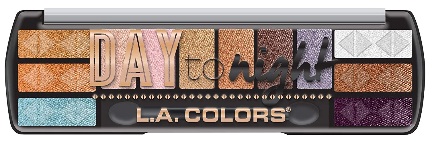 L.A. COLORS Day To Night 12 Color Eyeshadow, Sunset, 8 g