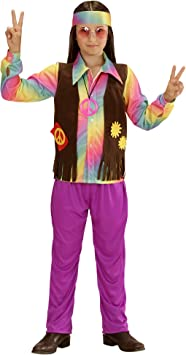 WIDMANN 73346 ? Disfraz para niños Hippie Niño, Camiseta ...